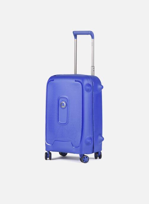 Bagagli Delsey Moncey Val Tr Cab 4Dr 55 Azzurro modello indossato
