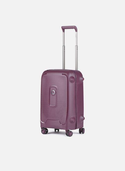 Reisegepäck Delsey Moncey Val Tr Cab 4Dr 55 lila schuhe getragen