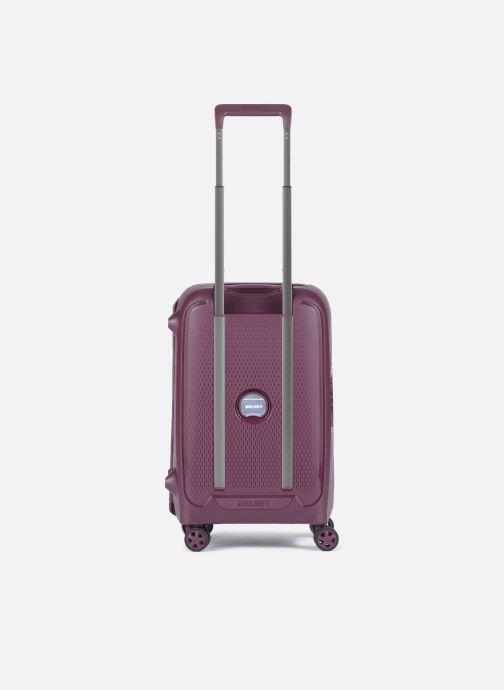 Reisegepäck Delsey Moncey Val Tr Cab 4Dr 55 lila ansicht von vorne