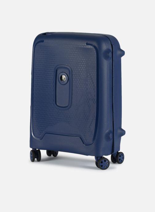 Bagages Delsey Moncey Val Tr Cab Slim 4Dr 55 Bleu vue portées chaussures