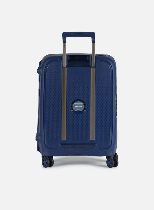 Luggage Delsey Moncey Val Tr Cab Slim 4Dr 55 Blue front view