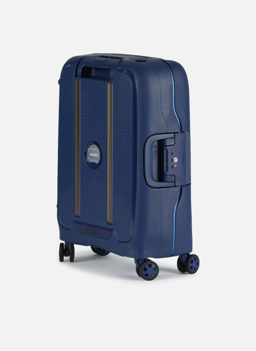 Luggage Delsey Moncey Val Tr Cab Slim 4Dr 55 Blue view from the right