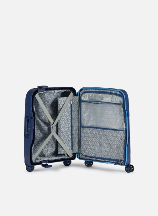 Luggage Delsey Moncey Val Tr Cab Slim 4Dr 55 Blue back view
