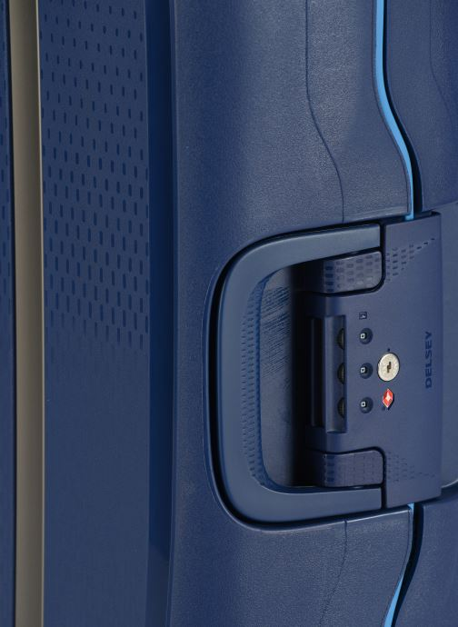 Bagages Delsey Moncey Val Tr Cab Slim 4Dr 55 Bleu vue gauche