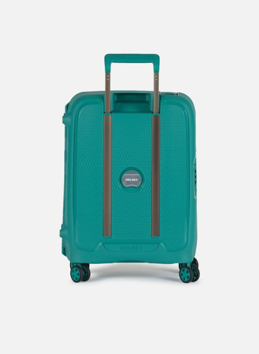 Luggage Delsey Moncey Val Tr Cab Slim 4Dr 55 Green front view
