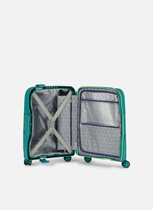 Luggage Delsey Moncey Val Tr Cab Slim 4Dr 55 Green back view