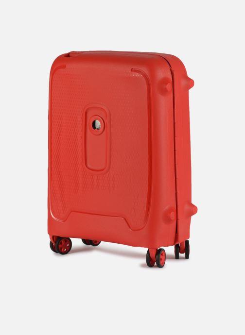 Bagages Delsey Moncey Val Tr Cab Slim 4Dr 55 Rouge vue portées chaussures