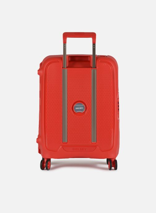 Luggage Delsey Moncey Val Tr Cab Slim 4Dr 55 Red front view