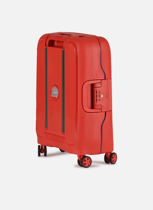 Luggage Delsey Moncey Val Tr Cab Slim 4Dr 55 Red view from the right