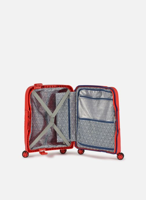 Luggage Delsey Moncey Val Tr Cab Slim 4Dr 55 Red back view
