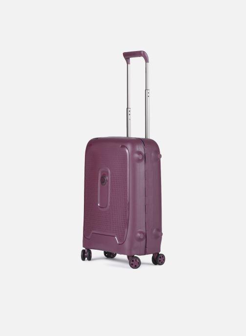 Bagagli Delsey Moncey Val Tr Cab Slim 4Dr 55 Viola modello indossato