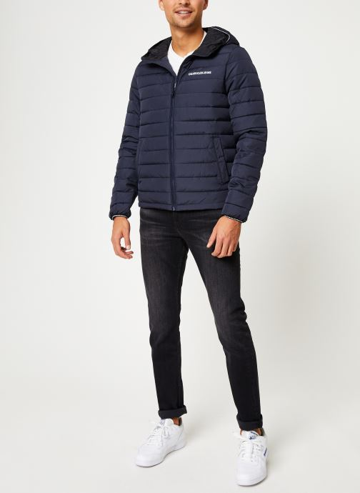 Kleding Calvin Klein Jeans PADDED HOODED JACKET Blauw onder