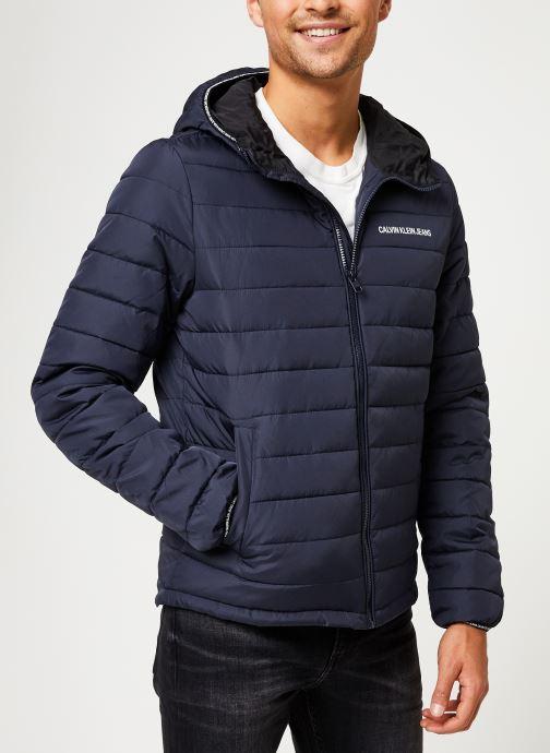 Kleding Calvin Klein Jeans PADDED HOODED JACKET Blauw rechts
