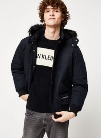 Veste Parka - FUR TRIMMED HOODED DOWN BOMBER