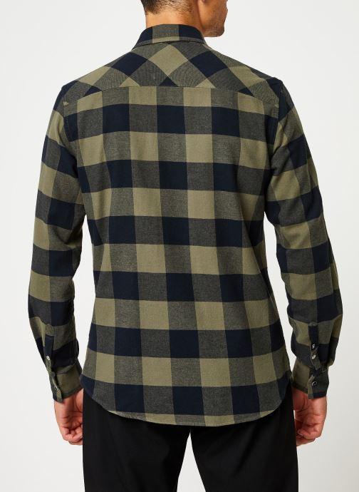 Kleding Calvin Klein Jeans FLANNEL WESTERN CHECK REG SHIRT Groen model