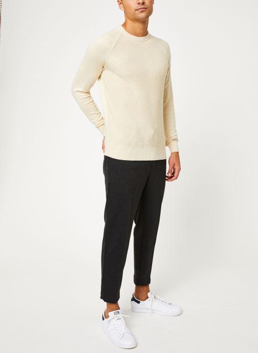 Vêtements Calvin Klein Jeans COTTON CASHMERE CN SWEATER Beige vue bas / vue portée sac