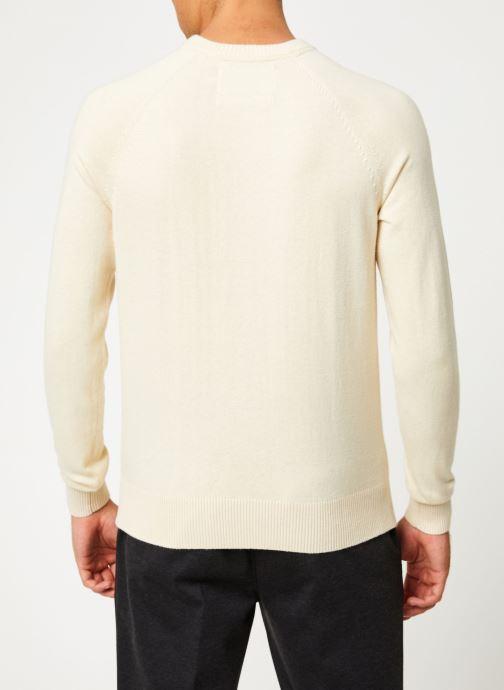 Vêtements Calvin Klein Jeans COTTON CASHMERE CN SWEATER Beige vue portées chaussures