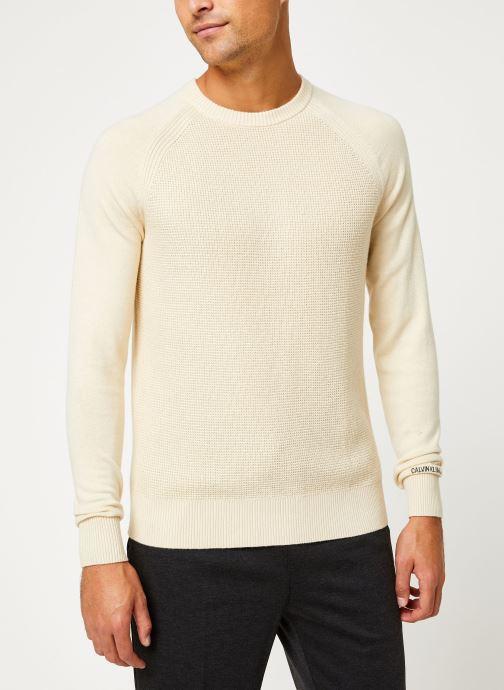 Vêtements Calvin Klein Jeans COTTON CASHMERE CN SWEATER Beige vue détail/paire