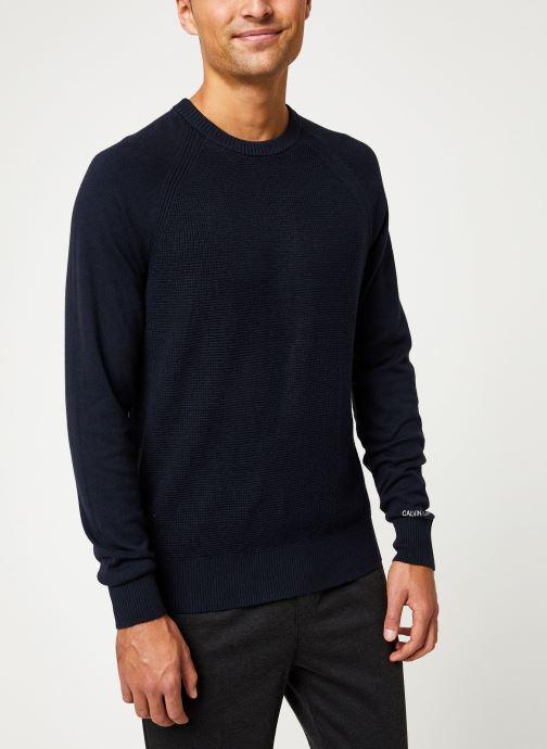 Vêtements Calvin Klein Jeans COTTON CASHMERE CN SWEATER Bleu vue droite