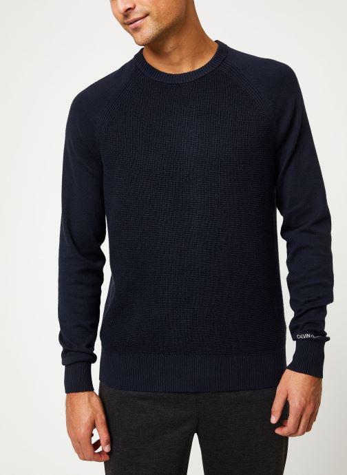 Vêtements Calvin Klein Jeans COTTON CASHMERE CN SWEATER Bleu vue détail/paire