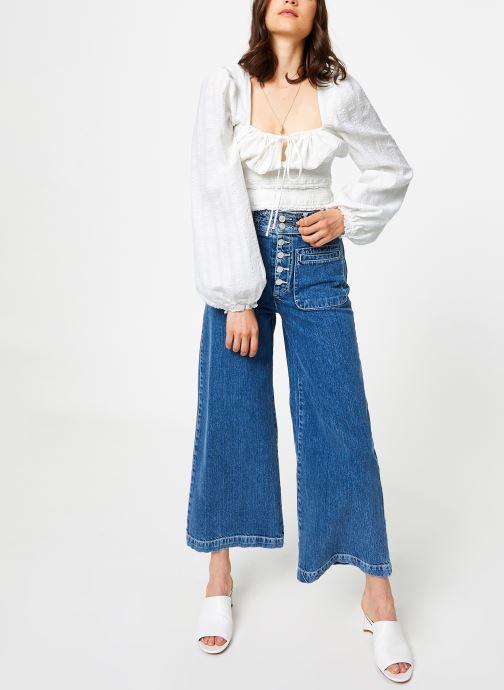 Vêtements Free People COLETTE WIDE LEG Bleu vue bas / vue portée sac