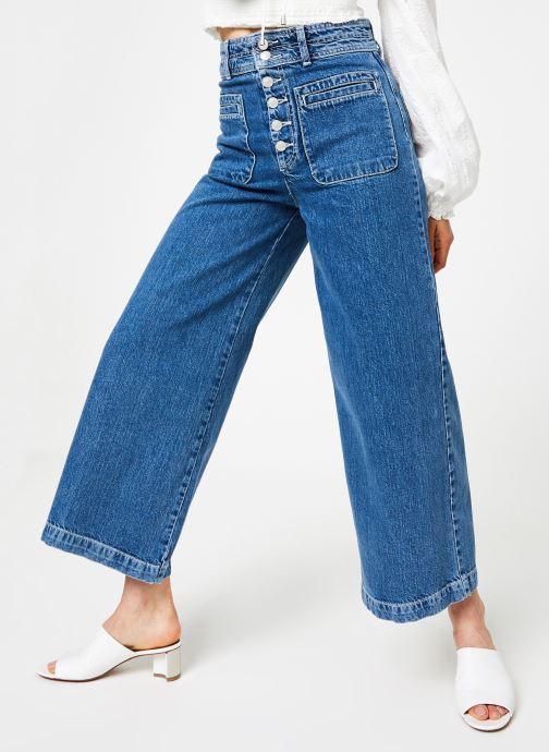 Vêtements Free People COLETTE WIDE LEG Bleu vue détail/paire