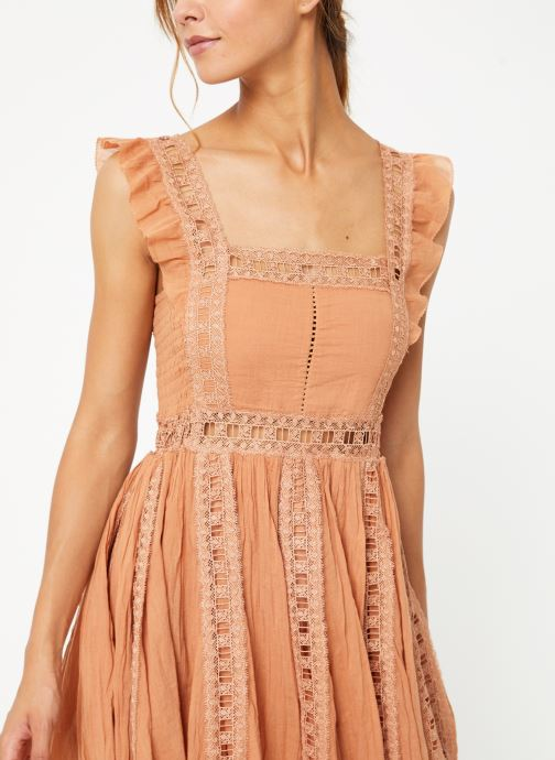 Vêtements Free People VERONA DRESS Beige vue détail/paire