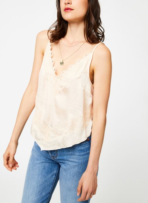 Vêtements Free People YOUR EYES CAMI Rose vue droite