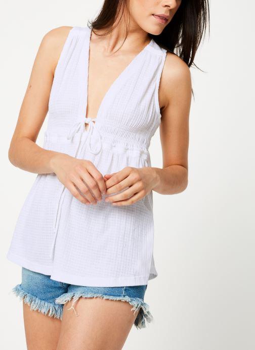 Vêtements Free People BEACH BOUND TANK Blanc vue droite