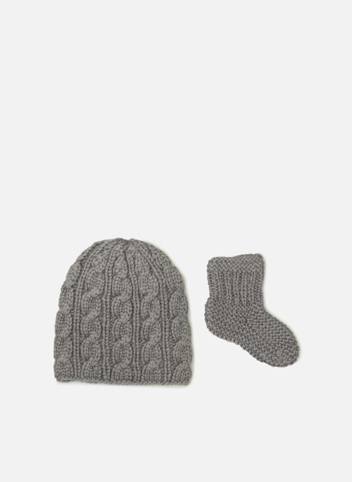Muts Moon Paris Ensemble Bonnet Chaussettes Grijs detail
