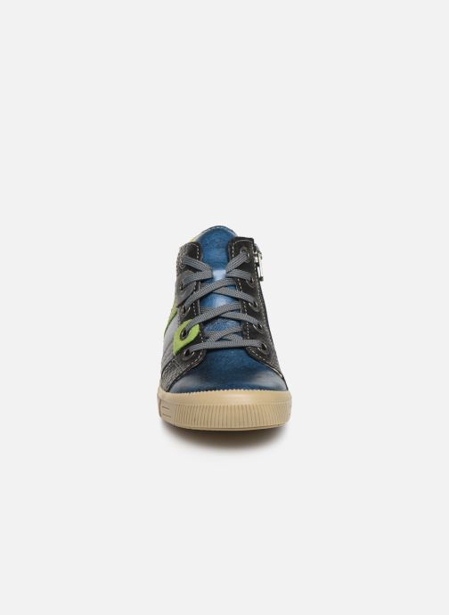 Baskets Noël Mini Rock Bleu vue portées chaussures