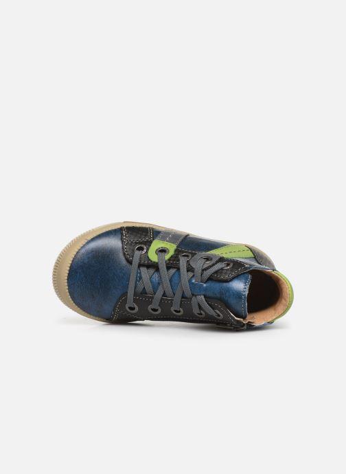 Baskets Noël Mini Rock Bleu vue gauche