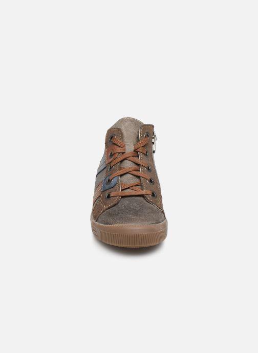 Baskets Noël Mini Rock Gris vue portées chaussures