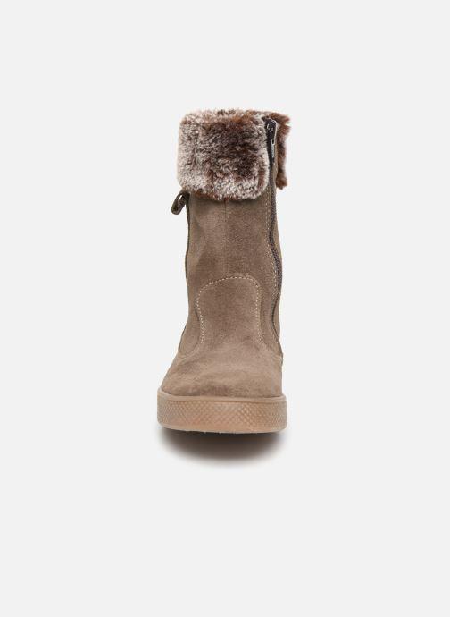 Bottes Minibel Touraya Beige vue portées chaussures