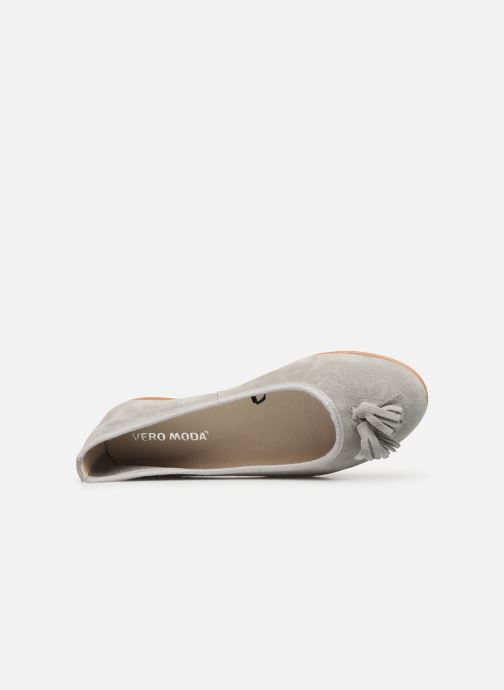 Ballerina's Vero Moda Vmfreya Leather Ballerina Grijs links
