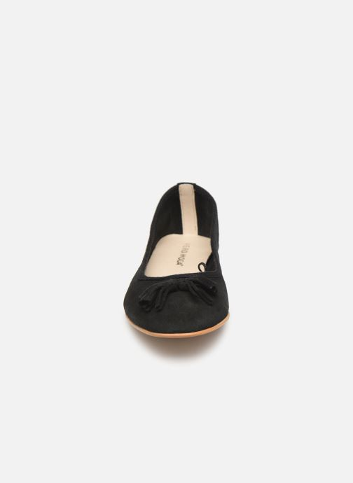 Ballerines Vero Moda Vmfreya Leather Ballerina Noir vue portées chaussures