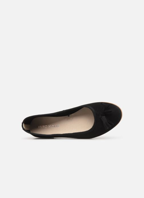 Ballerina's Vero Moda Vmfreya Leather Ballerina Zwart links