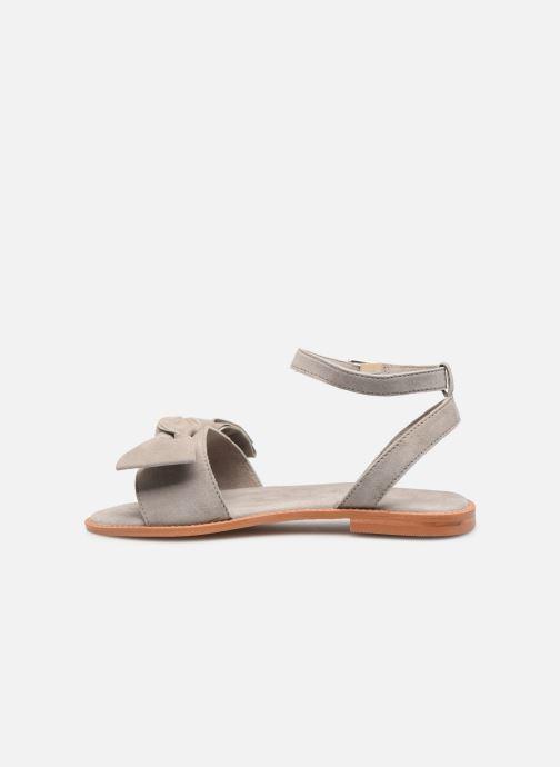 Sandales et nu-pieds Vero Moda Vmlila Leather Sandal Gris vue face