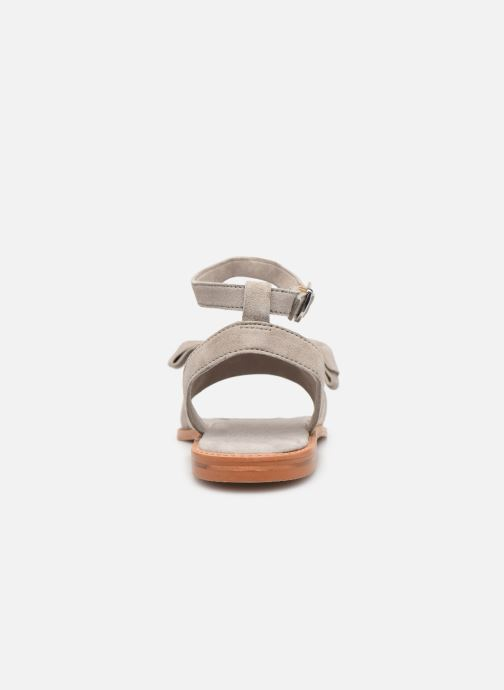 Sandals Vero Moda Vmlila Leather Sandal Grey view from the right