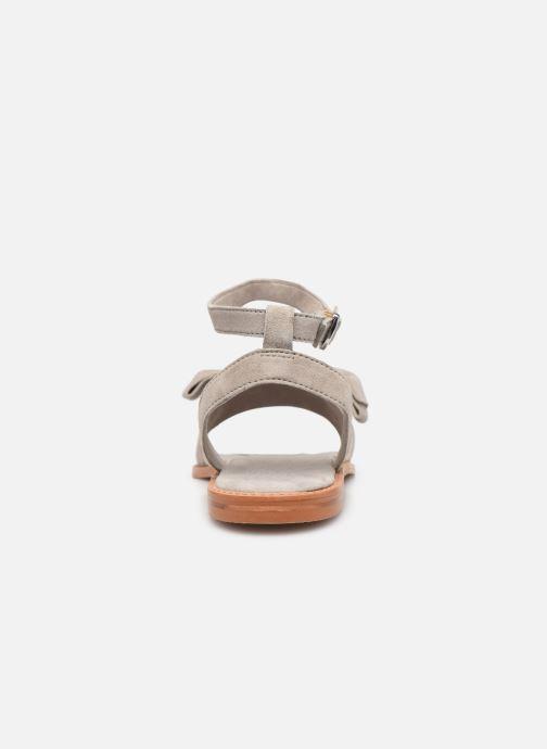 Sandales et nu-pieds Vero Moda Vmlila Leather Sandal Gris vue droite