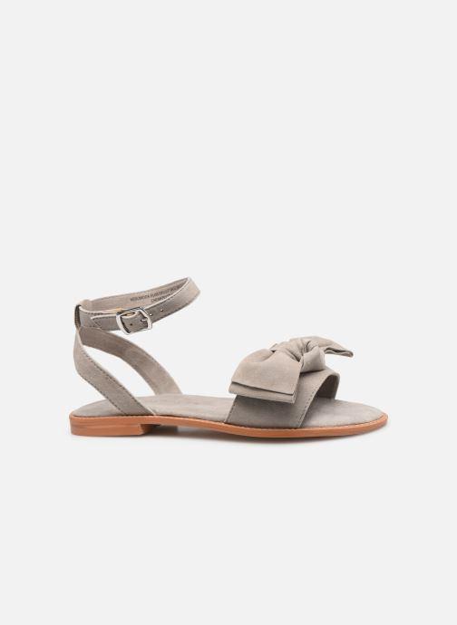Sandales et nu-pieds Vero Moda Vmlila Leather Sandal Gris vue derrière