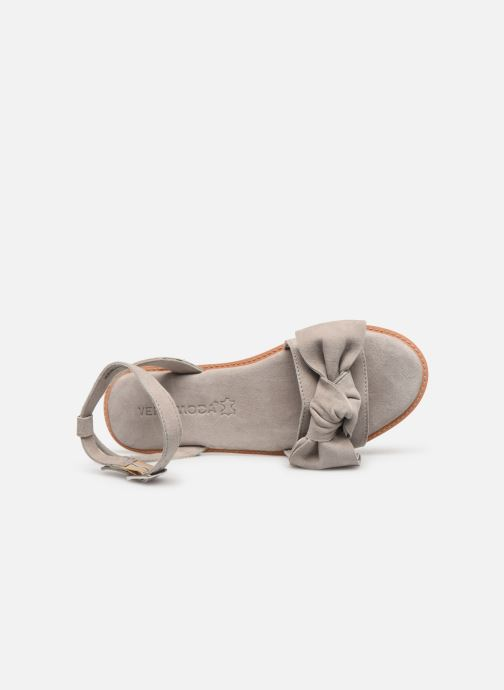Sandals Vero Moda Vmlila Leather Sandal Grey view from the left