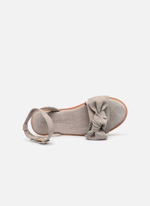 Sandalen Vero Moda Vmlila Leather Sandal Grijs links