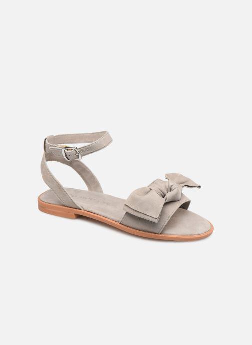 Sandales et nu-pieds Vero Moda Vmlila Leather Sandal Gris vue détail/paire