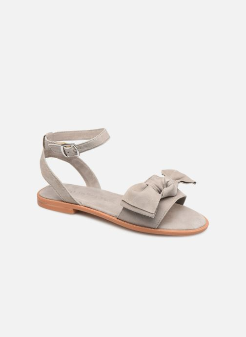 Sandalen Vero Moda Vmlila Leather Sandal Grijs detail