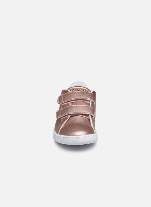 Sneaker Lacoste Carnaby Evo Strap 319 2 rosa schuhe getragen