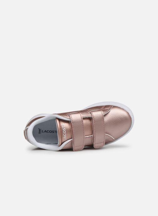 Sneaker Lacoste Carnaby Evo Strap 319 2 rosa ansicht von links