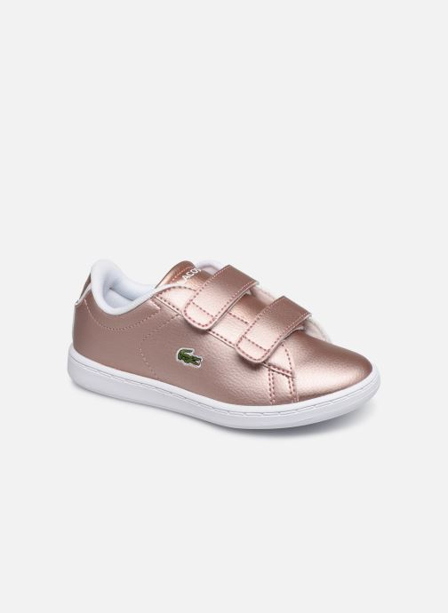 Baskets Lacoste Carnaby Evo Strap 319 2 Rose vue détail/paire