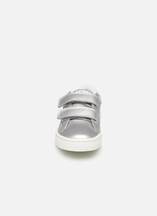 Sneakers Lacoste Straightset 319 1 Argento modello indossato