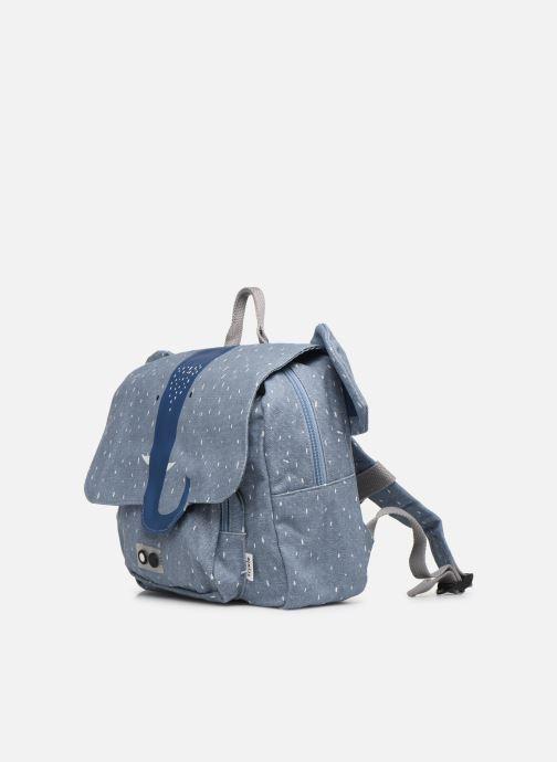 Scolaire Trixie Satchel Mrs. Elephant 25*29cm Bleu vue portées chaussures